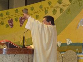 Comunidade do SCJ reunida celebrou a festa da visitação de Maria