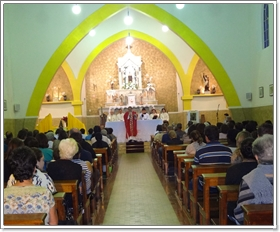 Paróquia Sagrado Coração de Jesus participa da missa na Festa de São Benedito 2013