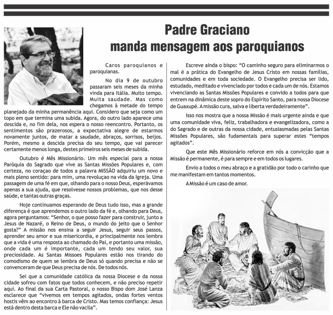 A Missão é um caso de amor - Padre Graciano