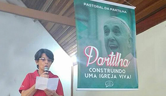 Missa  da Partilha teve como tema no mês de março - Partilha Construindo Uma Igreja Viva
