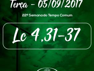 22ª Semana do Tempo Comum- 05/09/2017 (Lc 4,31-37)
