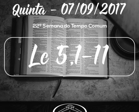 22ª Semana do Tempo Comum- 07/09/2017 (Lc 5,1-11)