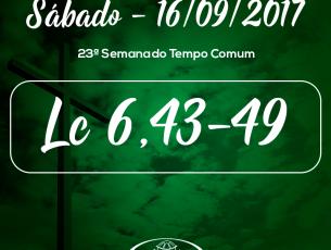 23ª Semana do Tempo Comum- 16/09/2017 (Lc 6,43-49)