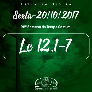 28ª Semana do Tempo Comum- 20/10/2017 (Lc 12,1-7)