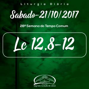28ª Semana do Tempo Comum- 21/10/2017 (Lc 12,8-12)