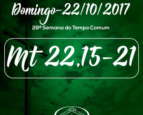 29º Domingo do Tempo Comum- 22/10/2017 (Mt 22,15-21)