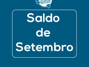 """Saldo de setembro da campanha """"O Salão é nosso!"""""""