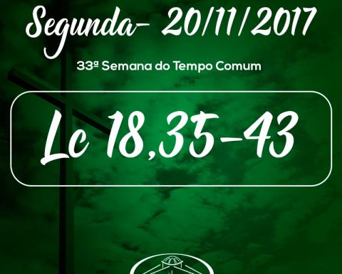 33ª Semana do Tempo Comum- 20/11/2017 (Lc 18,35-43)