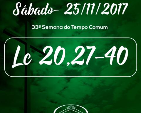 33ª Semana do Tempo Comum- 25/11/2017 (Lc 20,27-40)