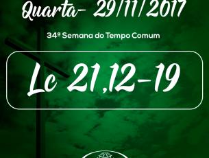 34ª Semana do Tempo Comum- 29/11/2017 (Lc 21,12-19)