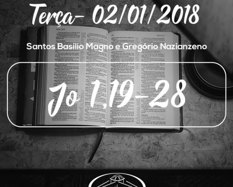 Santos Basílio Magno e Gregório Nazianzeno- 02/01/2018 (Jo 1,19-28)