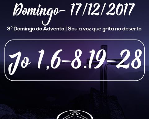 3º Domingo do Advento- 17/12/2017 (Jo 1,6-8.19-28)