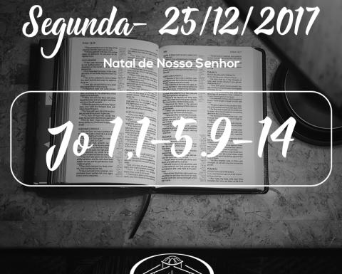 Natal de Nosso Senhor- 25/12/2017 (Jo 1,1-5.9-14)