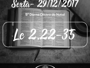 5º Dia na Oitava do Natal- 29/12/2017 (Lc 2,22-35)