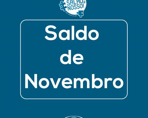 """Saldo de novembro da campanha """"O Salão é nosso!"""""""