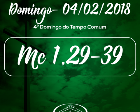 5º Domingo do Tempo Comum- 04/02/2018 (Mc 1,29-39)