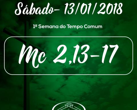 1ª Semana do Tempo Comum- 13/01/2017 (Mc 2,13-17)