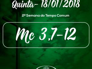 2ª Semana do Tempo Comum- 18/01/2018 (Mc 3,7-12)
