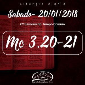 2ª Semana do Tempo Comum- 20/01/2018 (Mc 3,20-21)