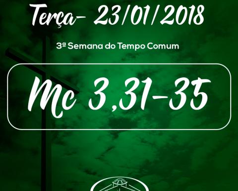 3ª Semana do Tempo Comum- 23/01/2018 (Mc 3,31-35)