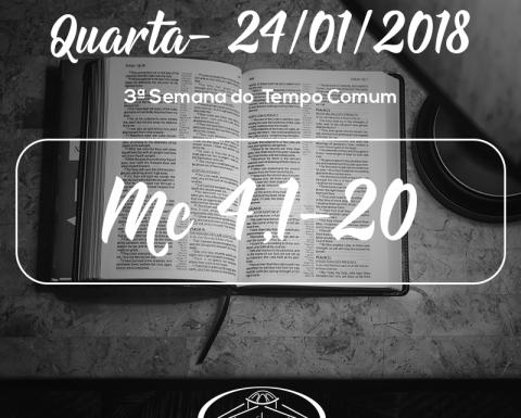3ª Semana do Tempo Comum- 24/01/2018 (Mc 4,1-20)