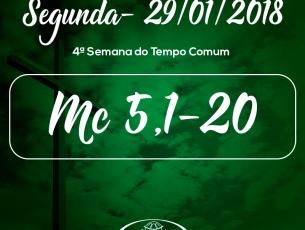 4ª Semana do Tempo Comum- 29/01/2018 (Mc 5,1-20)