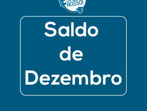 """Saldo de dezembro da campanha """"O Salão é nosso!"""""""