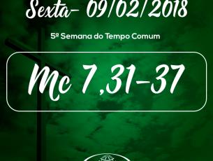 5ª Semana do Tempo Comum- 09/02/2018 (Mc 7,31-37)