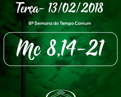 6ª Semana do Tempo Comum- 13/02/2018 (Mc 8,14-21)