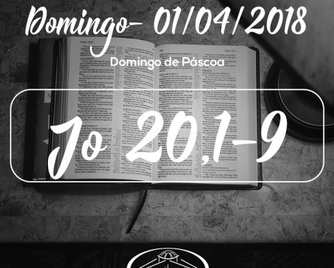 Domingo de Páscoa- 01/04/2018 (Jo 20,1-9)