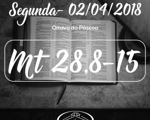 Oitava da Páscoa- 02/04/2018 (Mt 28,8-15)