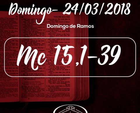 Domingo de Ramos- 25/03/2018 (Mc 15,1-39)