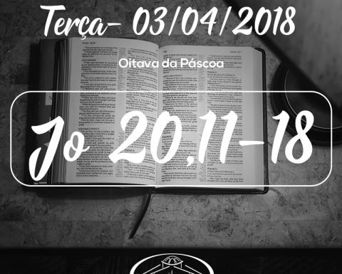 Oitava da Páscoa- 03/04/2018 (Jo 20,11-18)