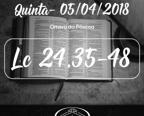 Oitava da Páscoa- 05/04/2018 (Lc 24,35-48)