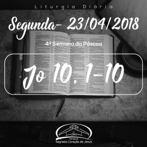 4ª Semana da Páscoa- 23/04/2018 (Jo 10,1-10)