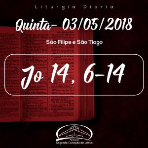 São Filipe e São Tiago- 03/05/2018 (Jo 14,6-14)