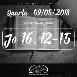 6ª Semana da Páscoa- 09/05/2018 (Jo 16,12-15)