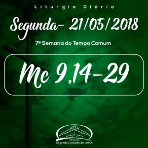 7ª Semana do Tempo Comum- 21/05/2018  (Mc 9,14-29)