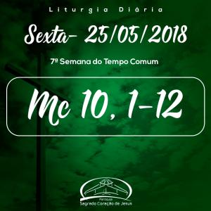7ª Semana do Tempo Comum- 25/05/2018 (Mc 10,1-12)