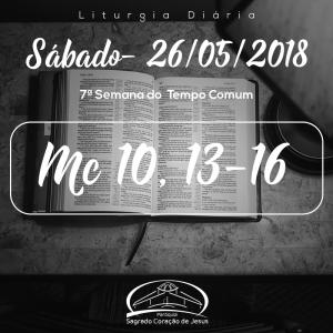 7ª Semana do Tempo Comum- 26/05/2018 (Mc 10,13-16)