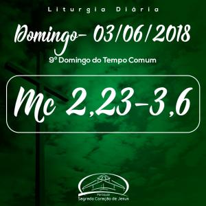 9º Domingo do Tempo Comum- 03/06/2018 (Mc 2,23-3,6)