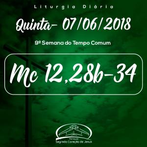 9ª Semana do Tempo Comum- 07/06/2018 (Mc 12,28b-34)