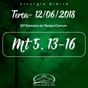 10ª Semana do Tempo Comum- 12/06/2018 (Mt 5,13-16)