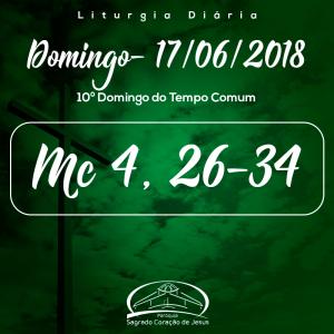 11º Domingo do Tempo Comum- 17/06/2018 (Mc 4,26-34)