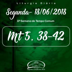 11ª Semana do Tempo Comum- 18/06/2018 (Mt 5,38-42)