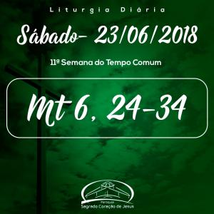 11ª Semana do Tempo Comum- 23/06/2018 (Mt 6,24-34)