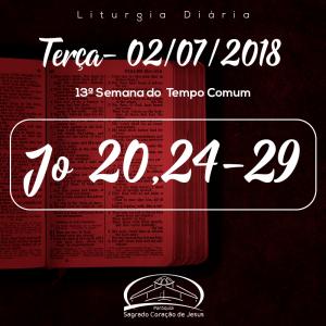 13ª Semana Comum- 03/07/2018 (Jo 20,24-29)