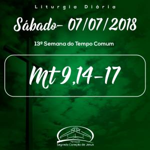 13ª Semana do Tempo Comum- 07/07/2018(Mt 9,14-17)