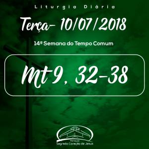 14ª Semana do Tempo Comum- 10/07/2018 (Mt 9,32-38)