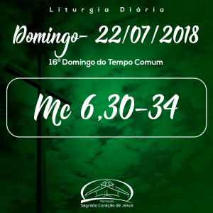 16º Domingo do Tempo Comum- 22/07/2018 (Mc 6,30-34)